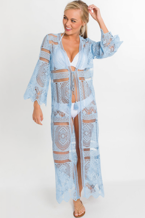 Boho Blues Duster