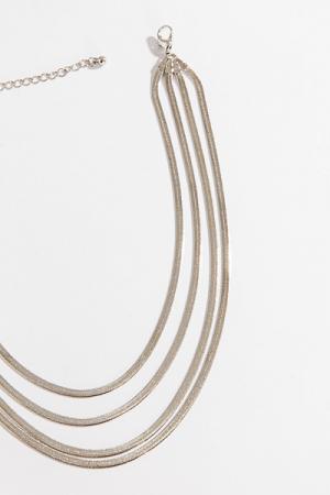 Liquid Strands Necklace, Silver